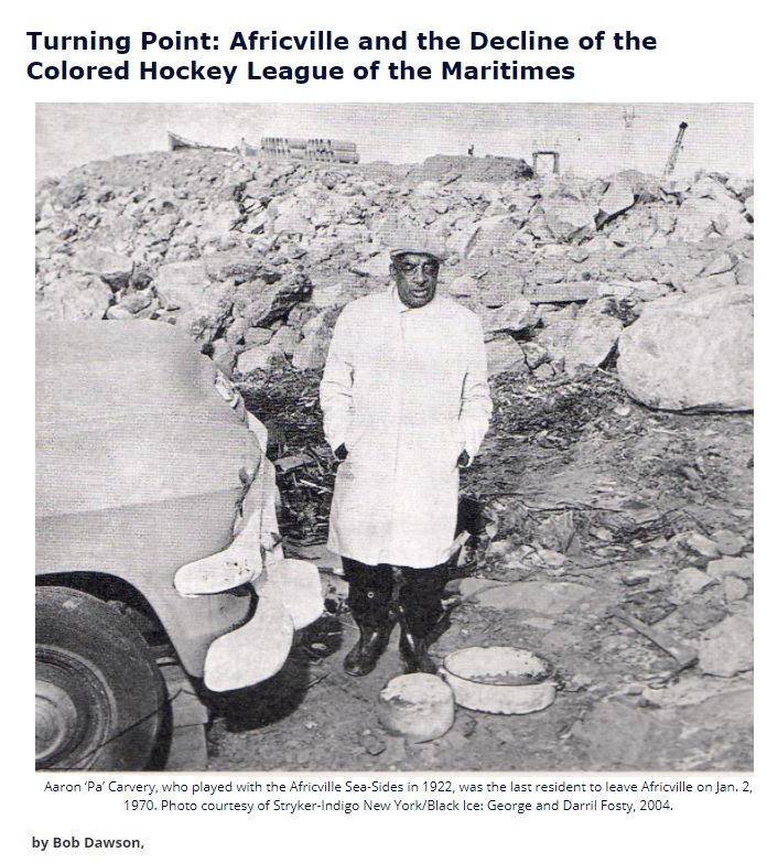 Boxscore News article about Africville and the Colored Hockey League of the Maritimes