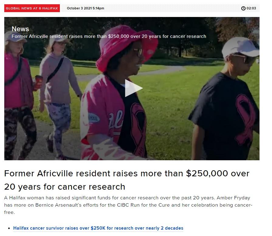 Bernice Arsenault Raises $250k for Breast Cancer